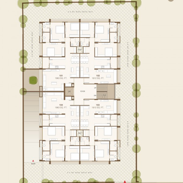 3 and 4 BHK Dwellings Renesa Floor Plan 1