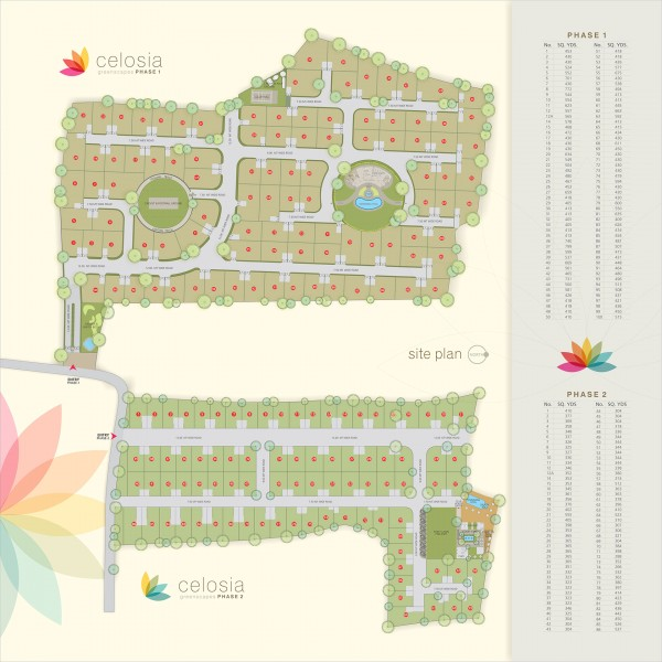Plotted Development Project Celosia Greenscapes Phase 1 Site Plan