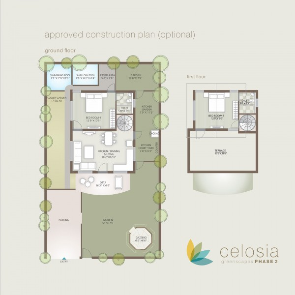Plotted Development Project Celosia Greenscapes Phase 2 Gound Floor Plan