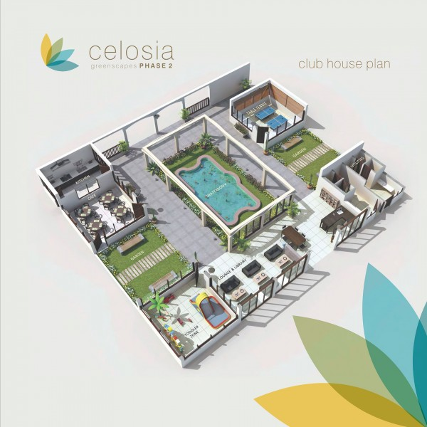 Plotted Development Project Celosia Greenscapes Phase 2 Club House Plan